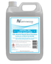 NORTHWOOD HAND SANITISER 5LTR 70% ALC