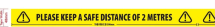 SAFE DISTANCE TAPE 48MM X 33M