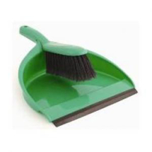 Dustpan & Brush Green