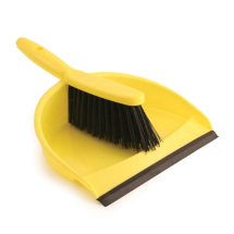 Dustpan & Brush Yellow