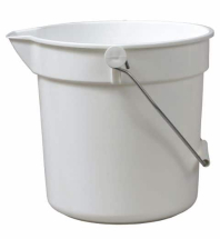 White 10Ltr Bucket With Spout